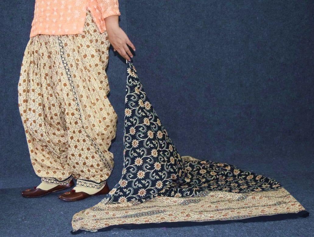 Pure Cotton Printed Patiala Salwar with Print cotton Dupatta PSD215 2