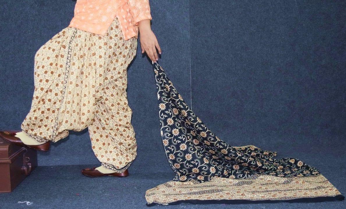 Pure Cotton Printed Patiala Salwar with Print cotton Dupatta PSD215 4