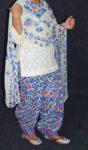 Printed Patiala Salwar Blended Cotton with Chiffon Print Dupatta PSD224