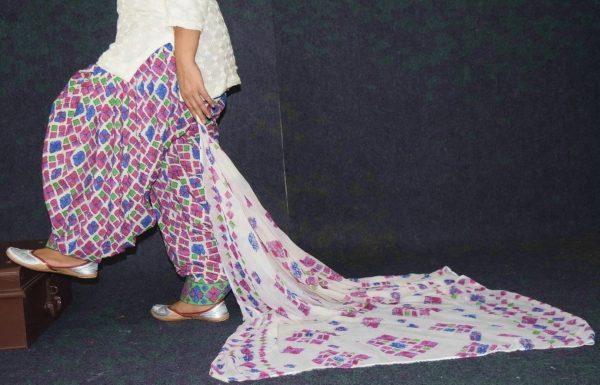 Printed Patiala Salwar Blended Cotton with Chiffon Print Dupatta PSD227