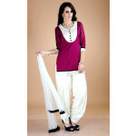 Full Patiala Salwar Suit Replica Design with Chiffon Dupatta Custom Made RS021