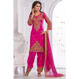 Party Wear Patiala Salwar Suit Replica Design with Chiffon Dupatta Custom Made RS022