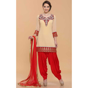 Patiala Suit Custom Made Replica Design with Chiffon Dupatta RS026