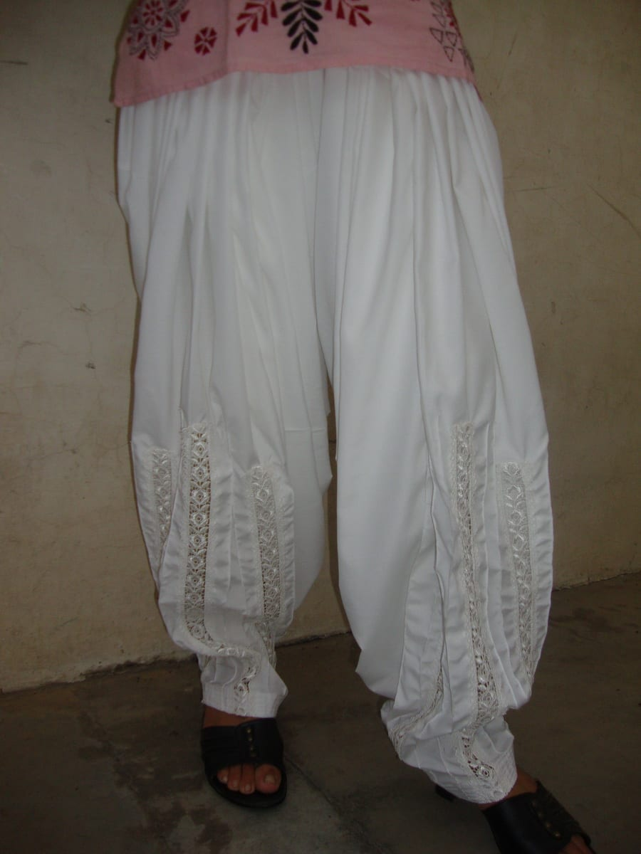 Long Lace Patiala Salwar - direct from Patiala City !! 1
