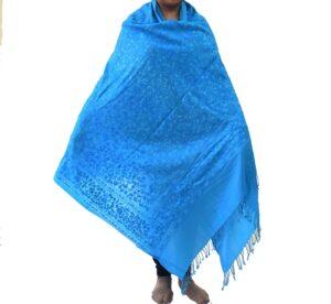 Firozi Kashmiri Shawl Pure Wool Pashmina C0652