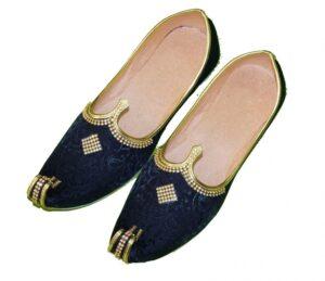 Achkan Sherwani Jutti Hand Made Desi Embroidered Wedding Groom Shoes ACJ11