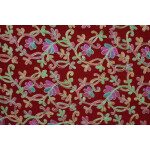 Red Bridal Kashmiri Shawl pure wool Pashmina all over embroidery C0641