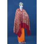Maroon Bridal Kashmiri Shawl pure wool Pashmina all over embroidery C0642
