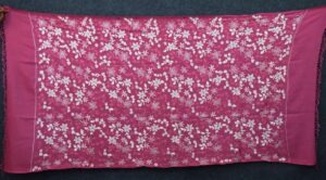 Pink Kashmiri Shawl pure wool Pashmina all over Zari embroidery C0647