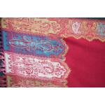 Dark Red Kashmiri Shawl pure wool Kani Pashmina wrap C0649