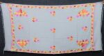 Light Grey Kashmiri Shawl Chinar Embroidery pure wool Pashmina wrap C0656