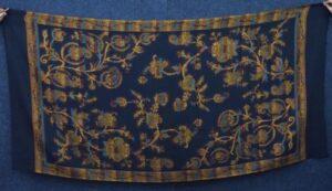 Black Kashmiri Shawl Kani Cutting Work pure wool Pashmina wrap C0659
