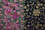 Black Kashmiri Stole Embroidery Work pure wool Pashmina wrap C0673