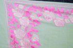 Cream/Pink Kashmiri Stole Border Work Embroidery pure wool Pashmina wrap C0676
