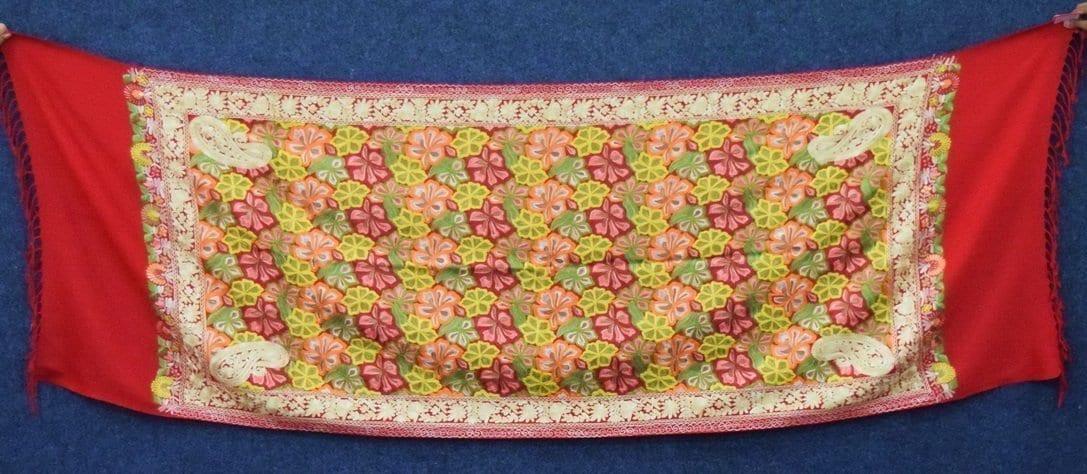 Kashmiri Stole Heavy Embroidery Work pure wool Pashmina wrap C0677 1