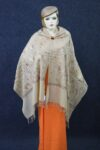 Embroidery Work Golden Kashmiri Stole pure wool Pashmina wrap C0679