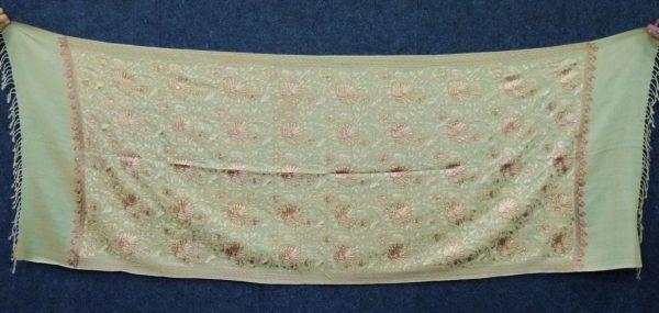 Embroidery Work Golden Kashmiri Stole pure wool Pashmina wrap C0679