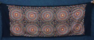 Multicolour Embroidery Work Black Kashmiri Stole pure wool Pashmina wrap C0682