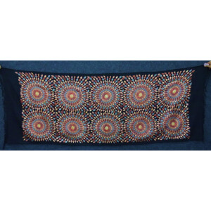 Multicolour Embroidery Work Black Kashmiri Stole pure wool Pashmina wrap C0682