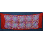 Red Kashmiri Stole Multicolour Embroidery Work pure wool Pashmina wrap C0684