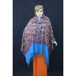 Firozi Kashmiri Stole Multicolour Heavy Embroidery Work pure wool Pashmina C0685