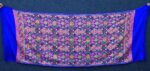 Royal Blue Kashmiri Stole Multicolour Heavy Embroidery Work pure wool Pashmina C0686