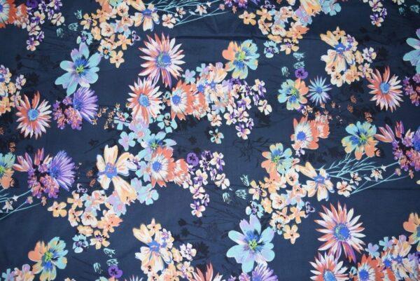 Printed American Crepe fabric drapy cloth (per meter price)  PAC24