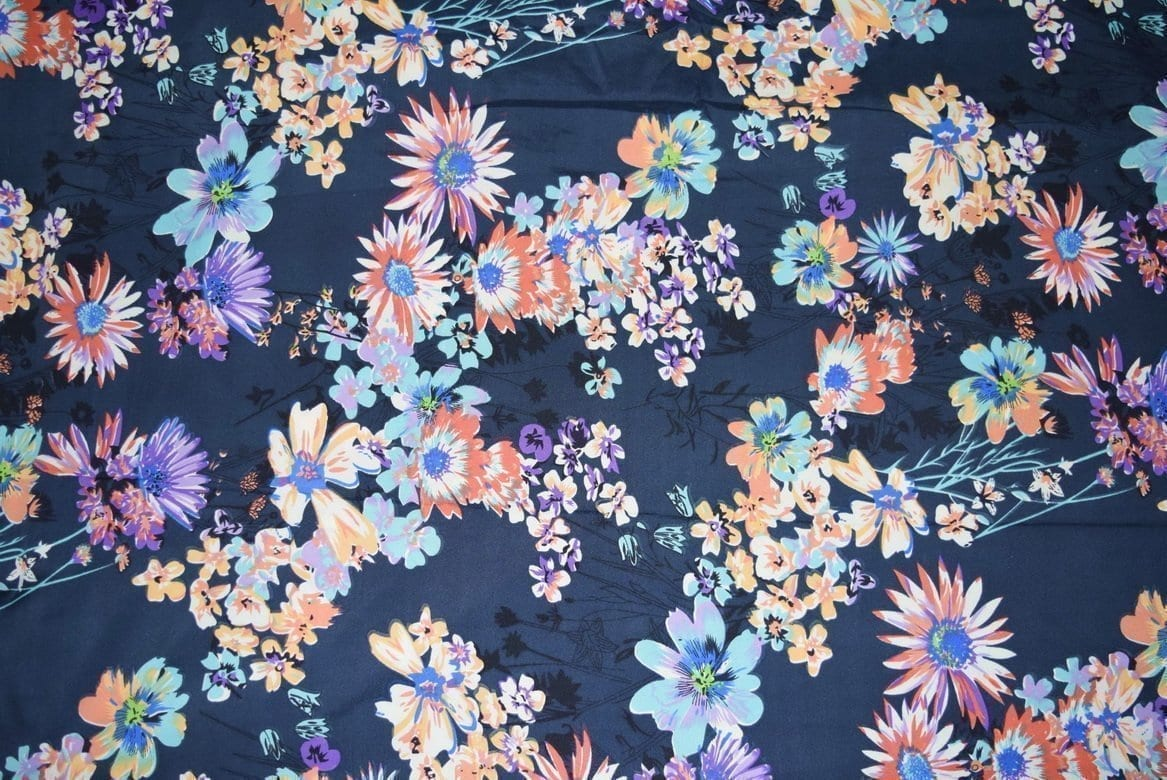 Printed American Crepe fabric drapy cloth PAC24 1