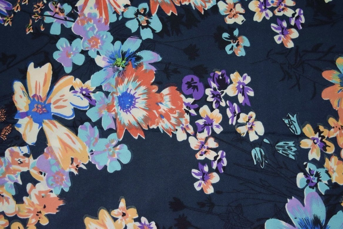 Printed American Crepe fabric drapy cloth PAC24 2