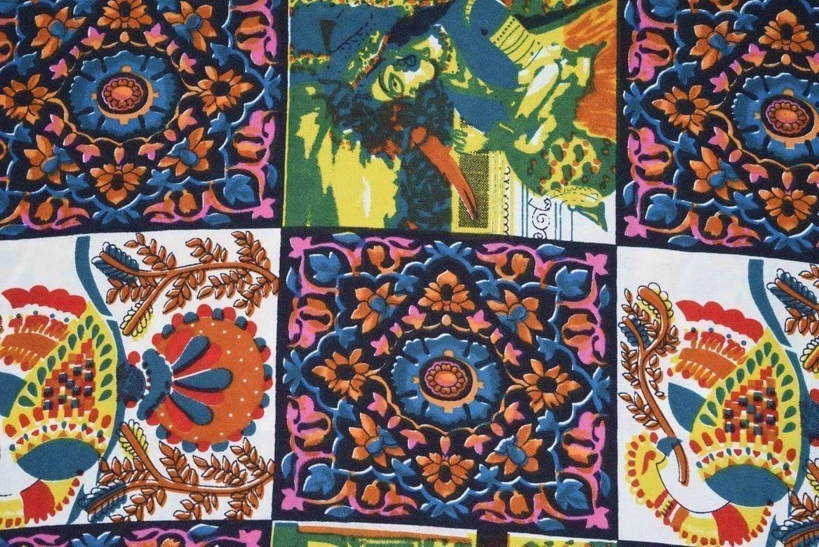 Printed American Crepe fabric drapy cloth PAC25 1