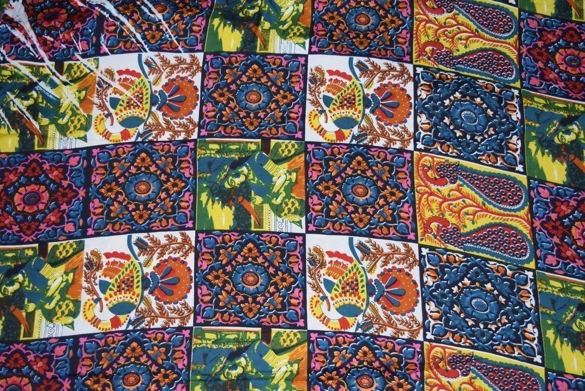 Printed American Crepe fabric drapy cloth PAC25 2