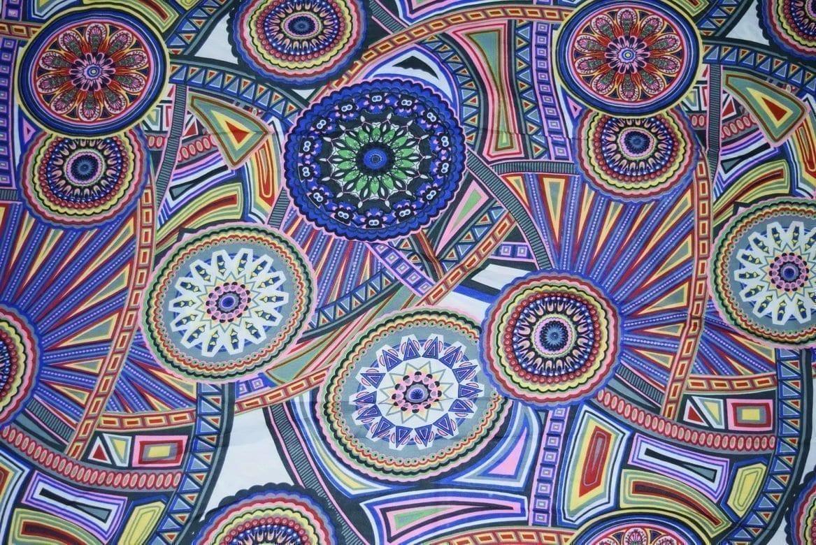 Printed Crepe fabric drapy cloth for salwar kameez PAC29 2