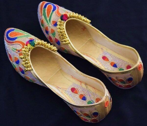 Ghungroo Punjabi Jutti Party wear Belly Mojari Shoes PJ9785