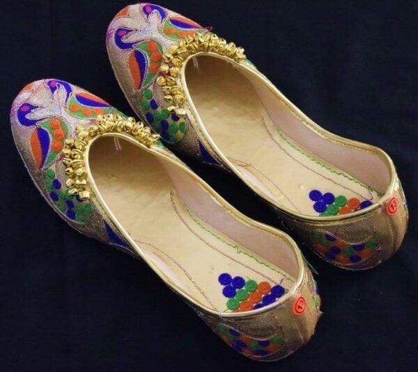 Ghungroo Wali Punjabi Jutti Party wear Belly Mojari Shoes PJ9786