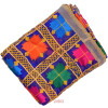 Royal Blue Phulkari Dupatta with Gota Work D0898
