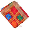 Red Phulkari Dupatta with Gota Work D0900
