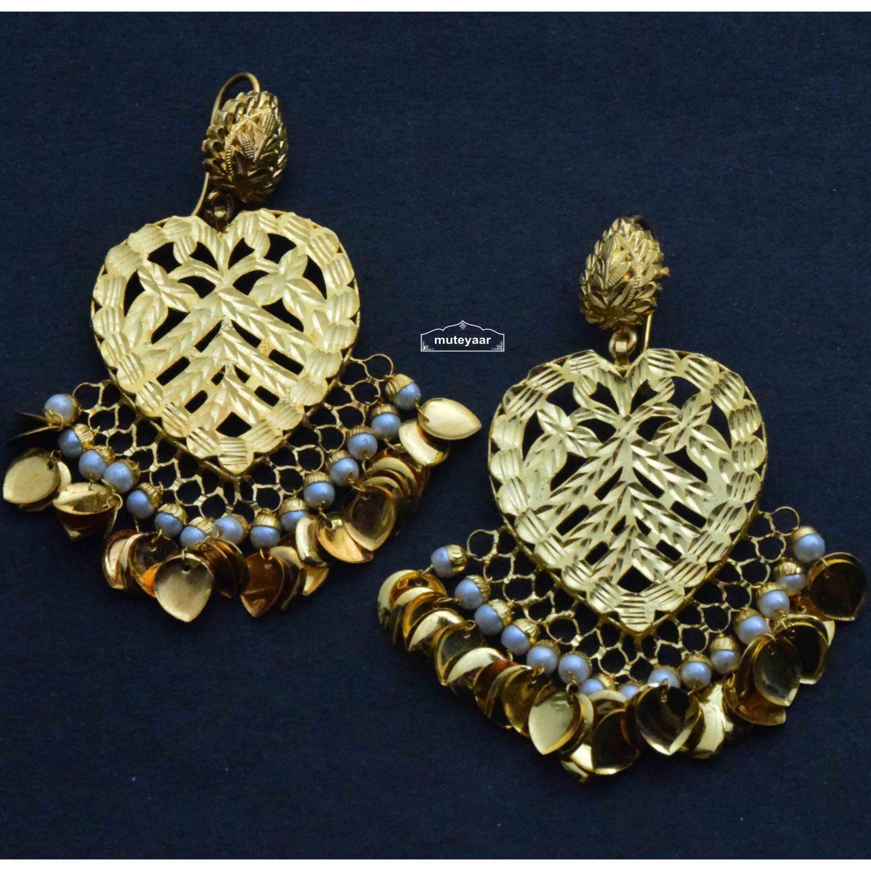 Gold Plated Punjabi Earrings J0372 1