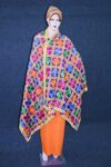 Blue PHULKARI Dupatta with Gota Work Party Wear M/C Embroidered D0898