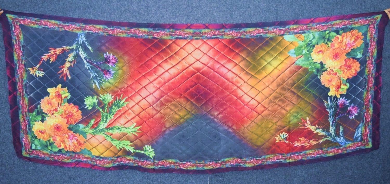 DIGITAL PRINT multicolour SEMI CHINON Dupatta Chunni DP022 1