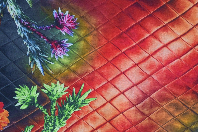 DIGITAL PRINT multicolour SEMI CHINON Dupatta Chunni DP022 2