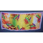 DIGITAL PRINT multicolour SEMI CHINON Dupatta Chunni DP023