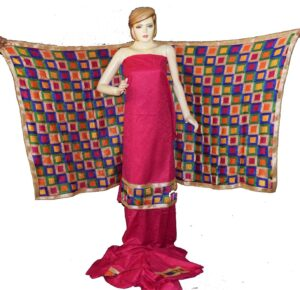 M/C Phulkari Salwar Kameez Cotton Suit with Bagh Dupatta F0728