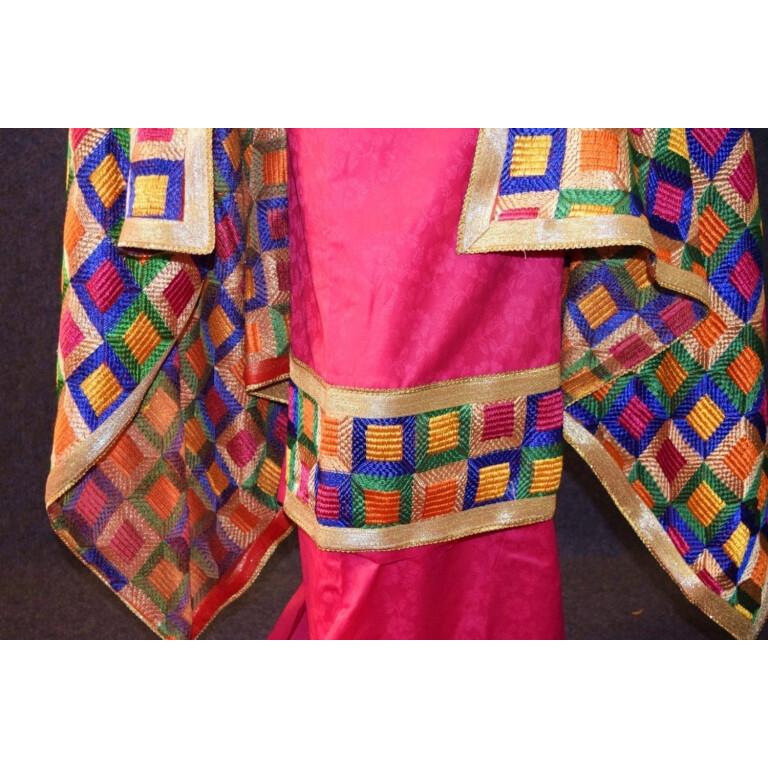 M/C Phulkari Salwar Kameez Cotton Suit with Bagh Dupatta F0728