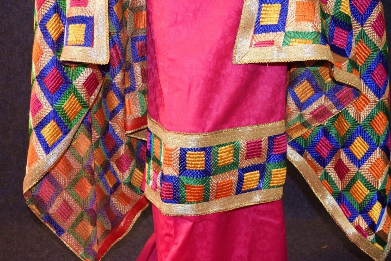 M/C Phulkari Salwar Kameez Cotton Suit with Bagh Dupatta F0728 2