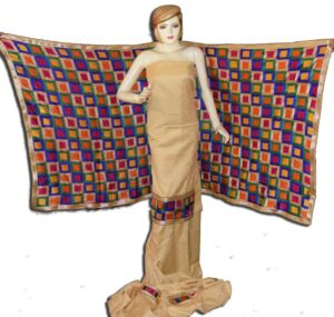Golden M/C Phulkari Salwar Kameez Cotton Suit with Bagh Dupatta F0731