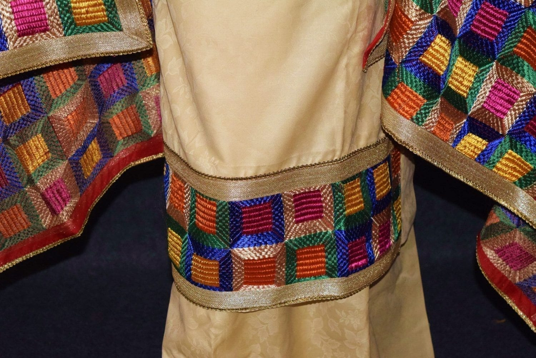 Golden M/C Phulkari Salwar Kameez Cotton Suit with Bagh Dupatta F0731 3