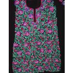 Embroidered Black Georgette Kurti K0387