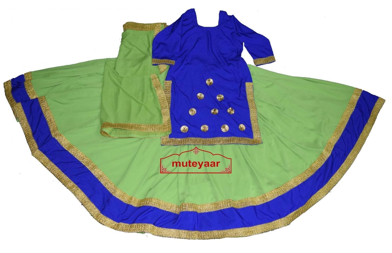 Ghaghra set for GIDDHA - Punjabi Lehenga Costume outfit dance dress 1
