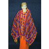 PHULKARI Dupatta Hand Embroidered Party wear Chanderi Silk Chunni D0905