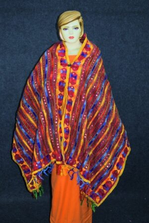 PHULKARI Dupatta Hand Embroidered Party wear Chanderi Silk Chunni D0905